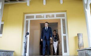 Emmanuel Macron lors d'une conférence de presse en Martinique, le 27 septembre 2018.