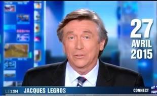Jacques Legros, présentateur du JT de 13h sur TF1.