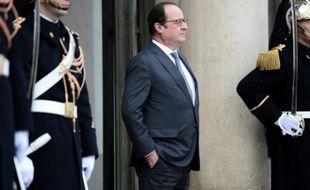Le président François Hollande le 28 janvier 2016 à l'Elysée à Paris