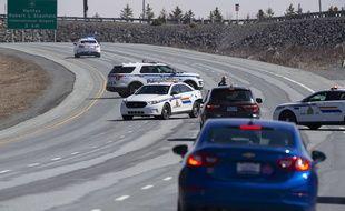 Fin de la course-poursuite avec le tireur présumé, à Enfield (Nova Scotia), le 19 avril 2020.