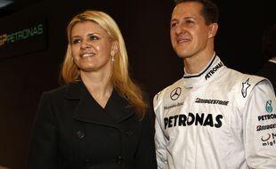 Les époux Schumacher en 2010.