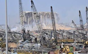 Les silos près de l'épicentre de l'explosion mardi 4 août, dans le port de Beyrouth, ont été détruits