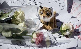 Des peluches en hommages aux victimes de l'attentat de Nice le 14 juillet 2016
