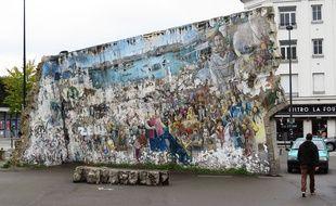 La fresque de Royal de luxe est très dégradée en octobre 2017 à Nantes.