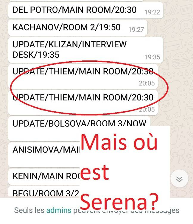 Serena introuvable