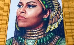 Michelle Obama en reine égyptienne à Chicago