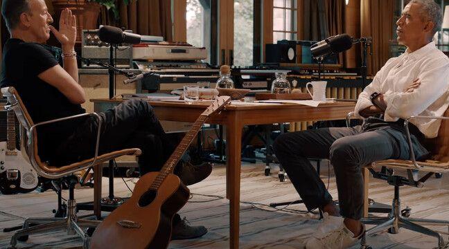 Barack Obama et Bruce Springsteen discutent de l'Amérique et des injustices raciales dans un podcast - 20 Minutes