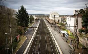 Jour de grève à la station de train Fontainebleau (Seine-et-Marne), le 3 avril 2018.