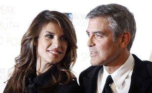 George Clooney et Elisabetta Canalis à New York le 17 novembre 2010