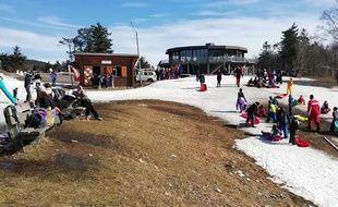 A la station de ski du Mont-Aigoual, mercredi.