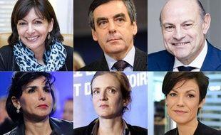 Montage des candidats putatifs à la Mairie de Paris.