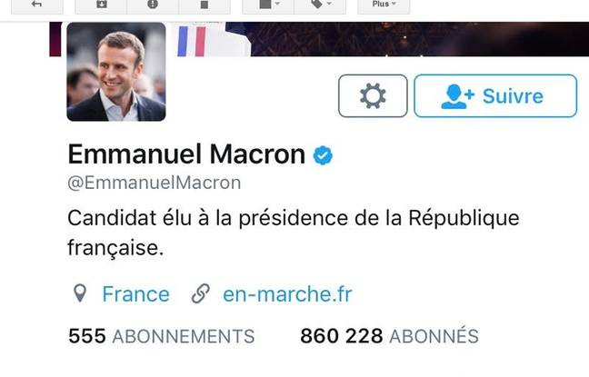 Le nouveau profil d'Emmanuel Macron.