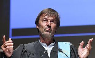 Nicolas Hulot, à Mons en Belgique le 10 octobre 2019.