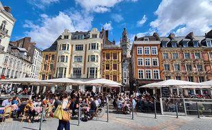 Des terrasses de restaurants à Lille (illustration).
