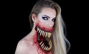Ophélie, une artiste bruxelloise, explique dans un tuto de cinq minutes comment elle a réalisé ce maquillage terrifiant.