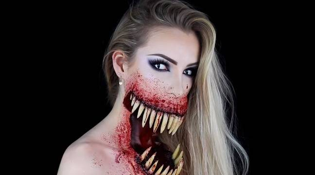 Video halloween le tuto maquillage terrifiant d 39 une jeune belge cartonne sur youtube - Tuto maquillage halloween ...