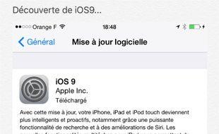 Il faut parfois s'armer de patience pour télécharger iOS9...