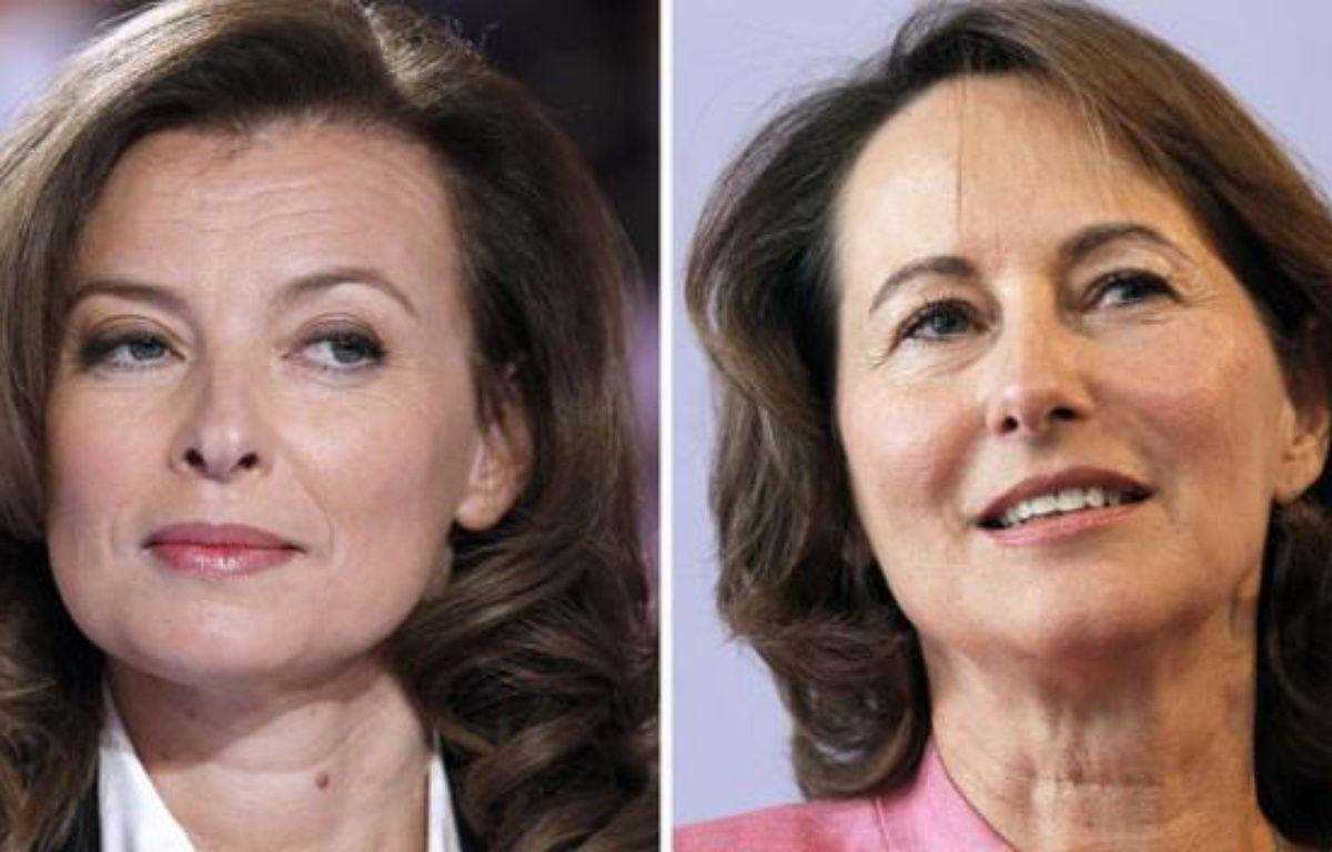 Valérie Trierweiler et Ségolène Royal. – P. KOVARIK / AFP