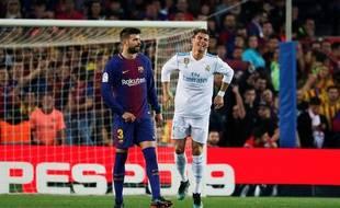 Cristiano Ronaldo a marqué le but du 1-1 face au Barça, dimanche.