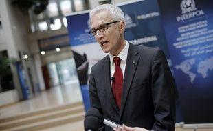 Le directeur d'Interpol Jurgen Stock à Lyon, le 15 octobre 2015.