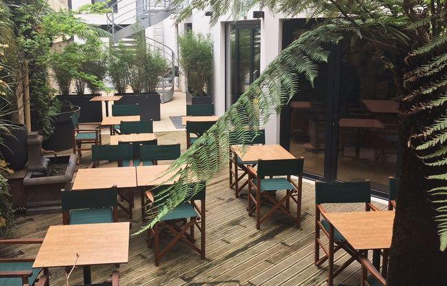 Les Tables Vatel à Bordeaux disposent d'un magnifique petit patio, qui sert notamment aux brunchs.