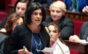La ministre du Travail, Myriam El Khomri, lors des questions au gouvernement, à l'Assemblée nationale à Paris le 2 mars 2016