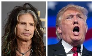 Steven Tyler, le leader d'Aerosmith, et Donald Trump.