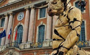 Le Minotaure Astérion sur l place du Capitole, à Toulouse.