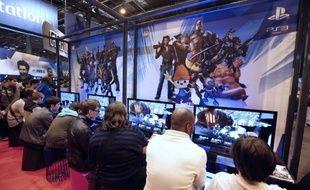 Illustration d'une compétition de jeux vidéos.