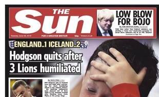 Le «Sun» met en une le fils de Wayne Rooney en pleurs au lendemain de l'élimination de l'Angleterre.
