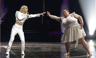 Bilal Hassani lors de la finale de l'Eurovision en Israël
