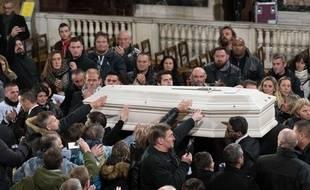 Le cercueil de Johnny lors de la cérémonie de samedi. /Credit:WITT/SIPA