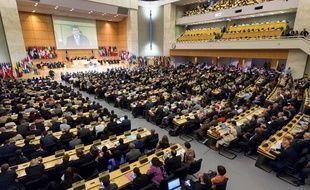 Des délégués de l'Organisation internationale du travail réunis en 2017 à Genève.