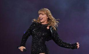 La chanteuse Taylor Swift en concert à Miami.