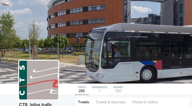 strasbourg le trafic bus et tram en temps r el sur le compte twitter de la cts. Black Bedroom Furniture Sets. Home Design Ideas