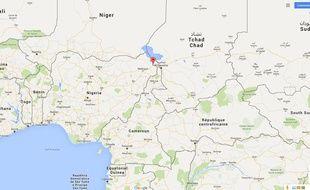 Carte de localisation de Fotokol (Cameroun).