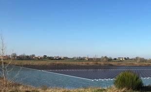 L'image en 3D de la future centrale solaire de Peyssies en Haute-Garonne.