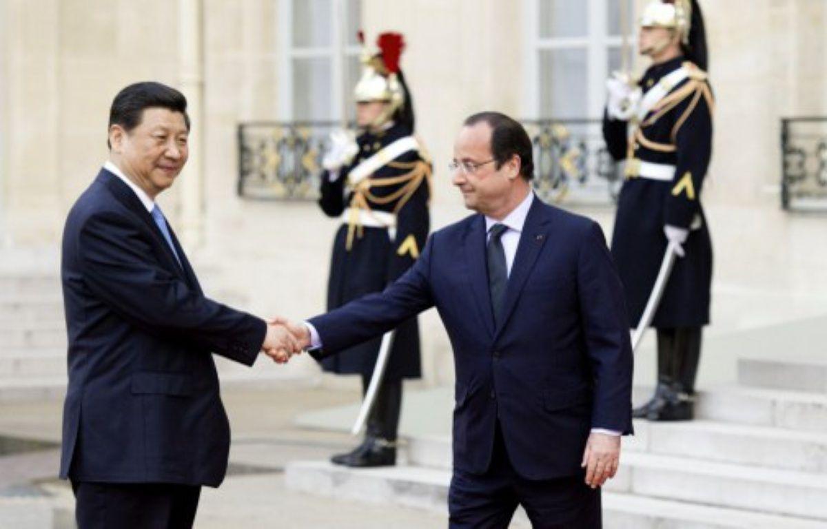 Xi Jinping, le président chinois, est arrivé mercredi midi à Paris – ALAIN JOCARD / AFP