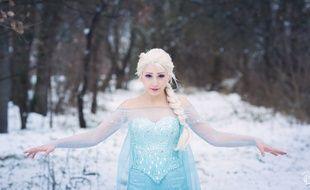 La Toulousaine Lyel en Elsa dans La Reine des Neiges.