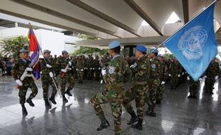 Des casques bleus rejoignant une mission au Mali, illustration