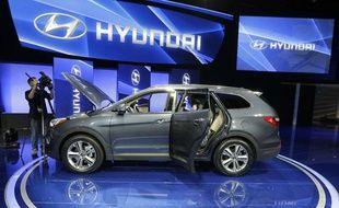 Le stand Hyundai au salon automobile de Los Angeles, le 28 novembre 2012.