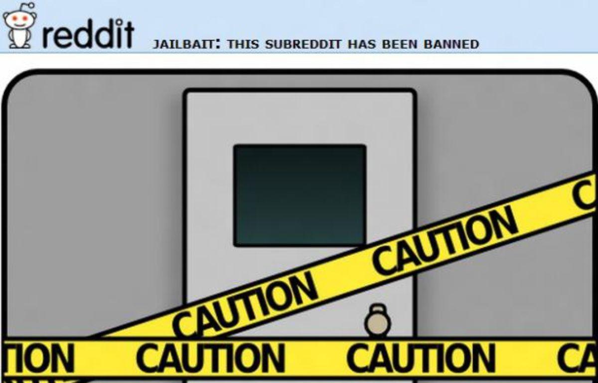 La page Jailbait, fermée par Reddit. – DR