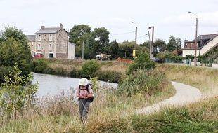 Le canal Saint-Martin, à Rennes, où un parc naturel urbain est en cours d'aménagement dans des prairies.