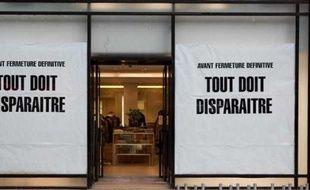 Un magasin parisien, le 11 janvier 2012, jour de l'ouverture des soldes d'hiver.