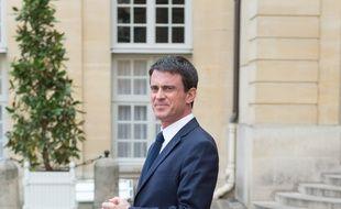 Manuel Valls à Matignon le 16/04/2015. Credit:WITT/SIPA/1504161421