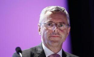 Michel Combes, lors d'une assemblée générale d'Alcatel-Lucent, le 26 mai 2015