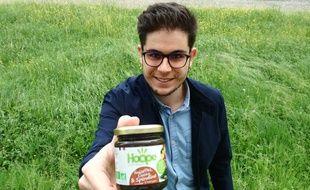 Christophe Sovran, l'un des deux cofondateurs de la start-up Sustn Food qui va commercialiser une pâte à tartiner à la spiruline.