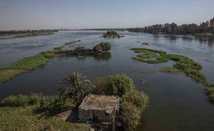 Le Nil bleu en pleine crue en août 2020.