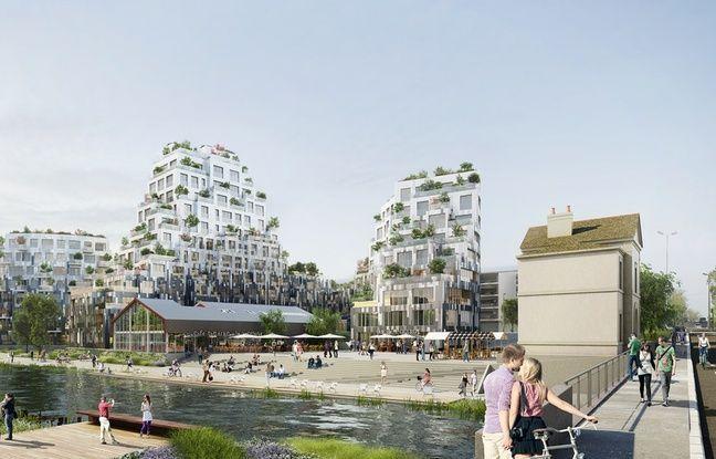 Le futur îlot de l'Octroi à Rennes, qui accueillera le café-théâtre Le Bacchus.