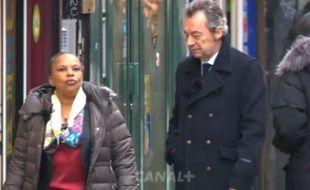 Christiane Taubira répond à Michel Denisot dans l'émission «Conversations secrètes», diffusée le 27 janvier 2016.